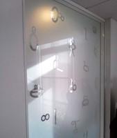 White Sparkle Etched Glass Applicatie - Pub Demaille