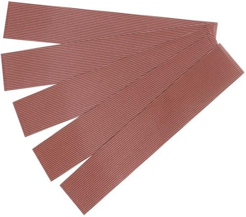 Zelfklevend grijs vilt, 5 strips van 20 x 110mm