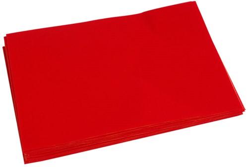Vilt, Zelfklevend rood