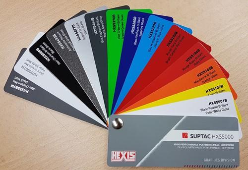 Kleurenwaaier Hexis Suptac HXS5000 serie Swatchbook