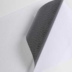 Hexis MICRO1 Polymeer microgeperforeerde printmedia 27m x 1520mm rol van 27 meter.