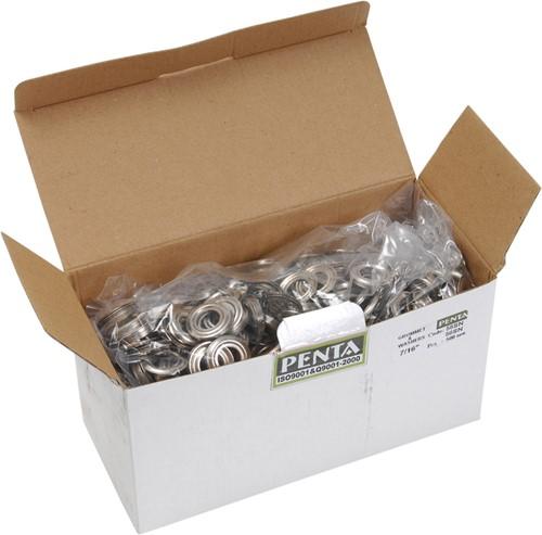 Eyelet ring nikkel 15 per 250 st