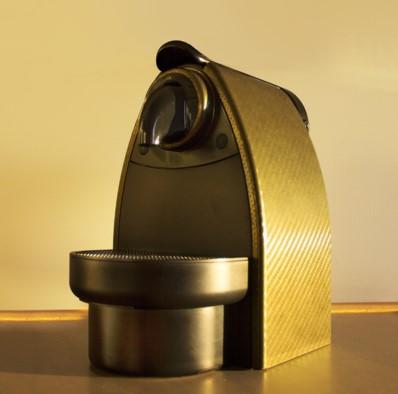 PCCARBON op een koffiezetapparaat