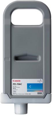 Canon 700 ml inkt cassette Cyan PFI-706C