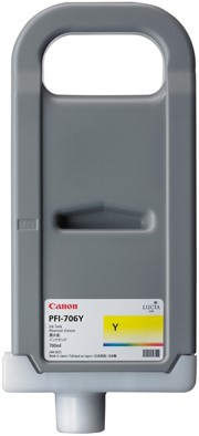 Canon 700 ml inkt cassette Yellow PFI-706Y