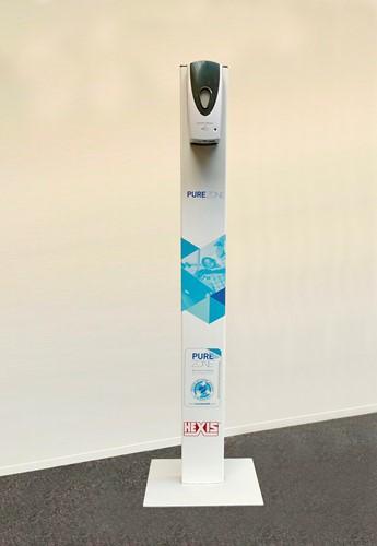 Desinfectiezuil met No-Touch Dispenser.