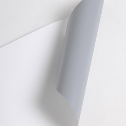 POP125THER 160um, 91,4cm x 30m, White Polyester Roll Up