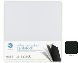 Silhouette Adhesive-Backed Cardstock 25-pack Black