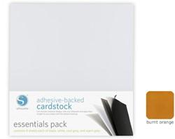 Burnt Orange Adhesive-Backed Cardstock 25-pack