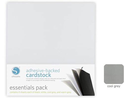 Silhouette Adhesive-Backed Cardstock  25-pack Cool Grey