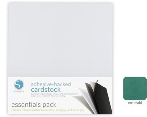 Silhouette Adhesive-Backed Cardstock 25-pack Emerald
