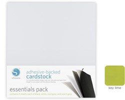 Silhouette Adhesive-Backed Cardstock 25-pack Key Lime