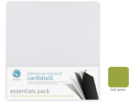 Silhouette Adhesive-Backed Cardstock 25-pack Leaf Green