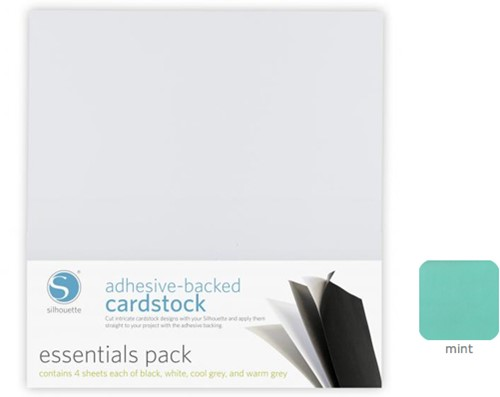 Silhouette Adhesive-Backed Cardstock 25-pack Mint