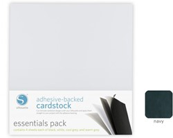 Silhouette Adhesive-Backed Cardstock 25-pack Navy