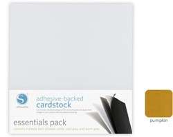 Silhouette Adhesive-Backed Cardstock 25-pack Pumpkin