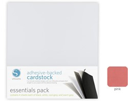 Pink Adhesive-Backed Cardstock 25-pack