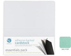 Sea Mist Adhesive-Backed Cardstock 25-pack
