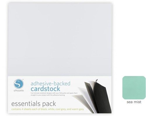 Silhouette Adhesive-Backed Cardstock 25-pack Sea Mist