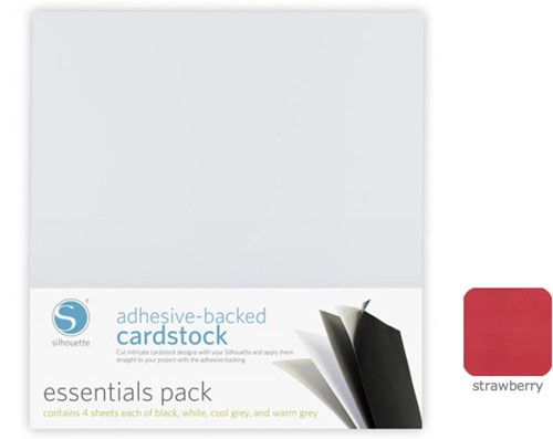 Silhouette Cardstock Adhesive-Backed 25-pack Strawberry
