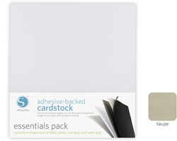Taupe Adhesive-Backed Cardstock 25-pack