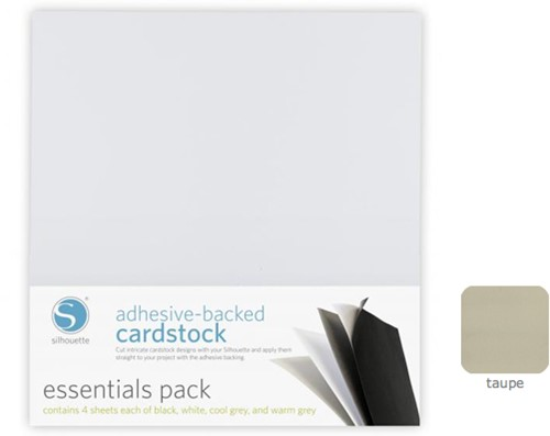 Silhouette Cardstock Adhesive-Backed 25-pack Taupe