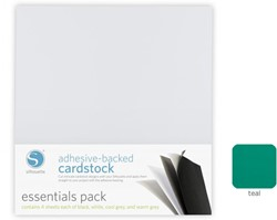 Teal Adhesive-Backed Cardstock 25-pack