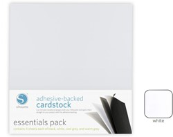 White Adhesive-Backed Cardstock 25-pack