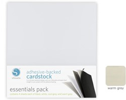 Silhouette Adhesive-Backed Cardstock 25-pack Warm Grey