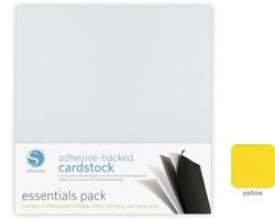 Yellow Adhesive-Backed Cardstock 25-pack