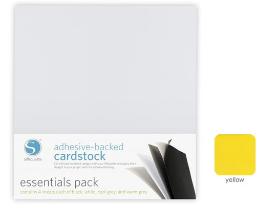 Silhouette Adhesive-Backed Cardstock 25-pack Yellow