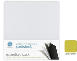 Silhouette Adhesive-Backed Cardstock 25-pack Yellow-Green