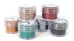 Silhouette Glitter-Assorted Bold Colors, 20ml jars