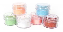 Silhouette Glitter-Assorted Pastel Colors, 20ml jars