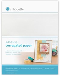 Silhouette Adhesive Corrugated Paper (3 white & 3 kraft, letter size)