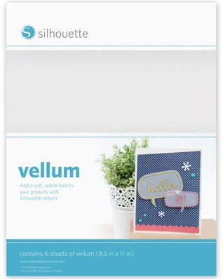 Silhouette Vellum 6 sheets Letter size