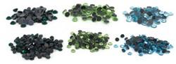 Silhouette Rhinestone Assorted (aqua/mint/teal)