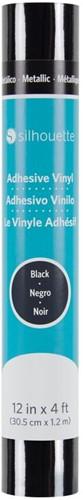 Silhouette Vinyl Permanent Glossy 30,5cm x 1,2m Metallic Black