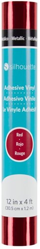 Silhouette Vinyl Permanent Glossy 30,5cm x 1,2m Metallic Red