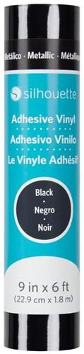 Silhouette Vinyl Permanent Glossy 22,9cm x 1,8m Metallic Black