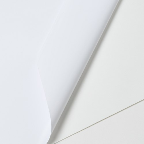 Hexis VCSR201WM1 Polymeer printmedia met versterkte lijmlaag 45m x 1370mm