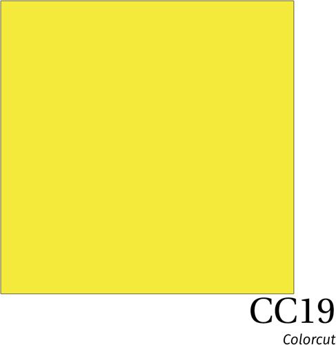 ColorCut CC19 Lemon Yellow