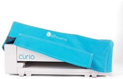 Silhouette Curio Dust Cover Blue