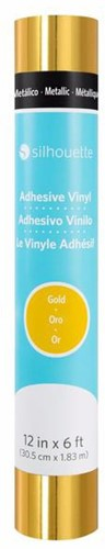 Silhouette Vinyl Permanent Glossy 30,5cm x 1,8m Metallic Gold