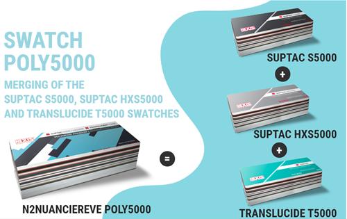 Kleurenwaaier Hexis Poly 5000 serie Swatchbook (Suptac S5000, HX5000, T5000)