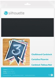 Silhouette Cardstock - Adhesive back Chalkboard