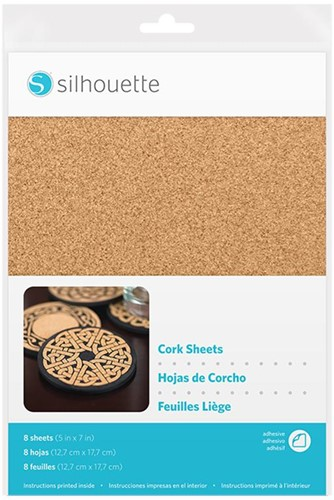 Silhouette 8 sheets 12,7cm x 17,8cm Cork sheets