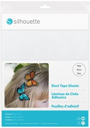Silhouette Duct Tape Sheets 5 sheets 21,5cm x 27,9cm White