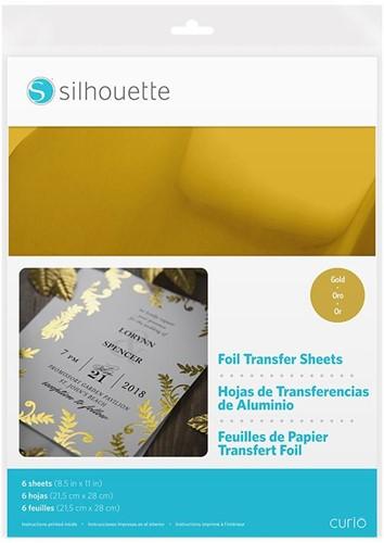 Silhouette Foil Transfer Sheets 21,5cm x 27,9cm Gold