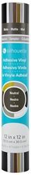 Silhouette Vinyl Sampler Pack Neutral black, white, gold, silver, brown, grey